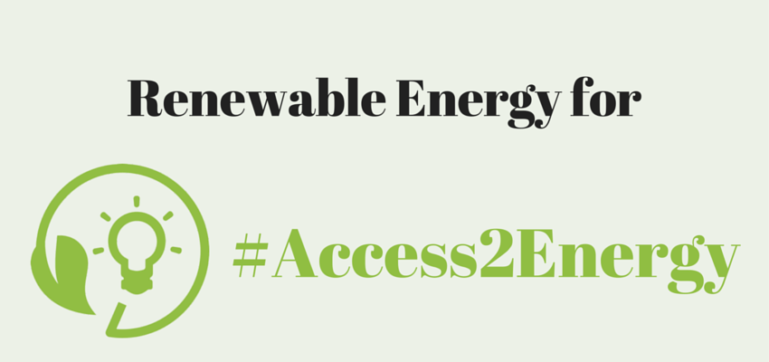 Renewable Energy for Access to Energy
