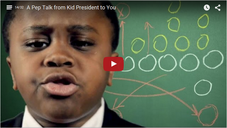 [Video] A Pep Talk from Kid President to You