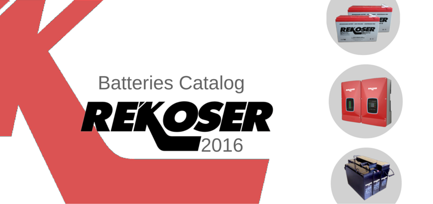 Whitewall Energy presents the new Rekoser batteries catalog for 2016